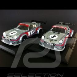 Duo Porsche 911 2.1 Carrera RSR Martini Nürburgring 1974 n° 8 / Watkins Glen 1974 n° 9 1/18 Norev 187421 187420