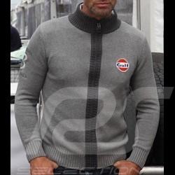 Cardigan Gulf knit vest n° 8 grey - men