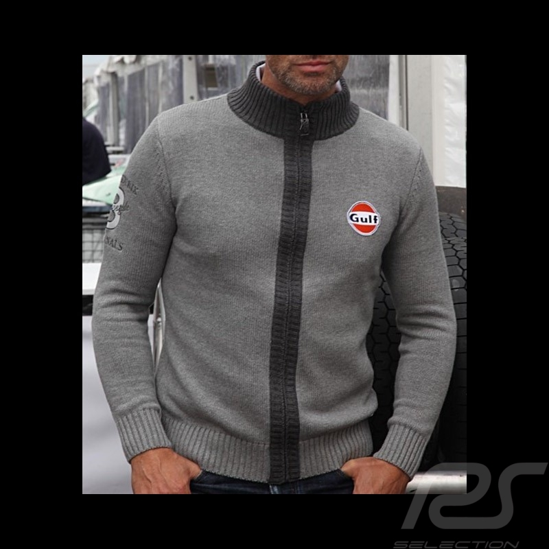 Gilet Gulf tricot n° 8 gris - homme