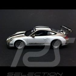 Porsche 997 GT3 Cup 2012 blanche white weiss / grise grey grau 1/43 Minichamps WAP0200150C
