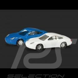 Duo Porsche 996 blanche et bleue 1/160 N Herpa 065122-002