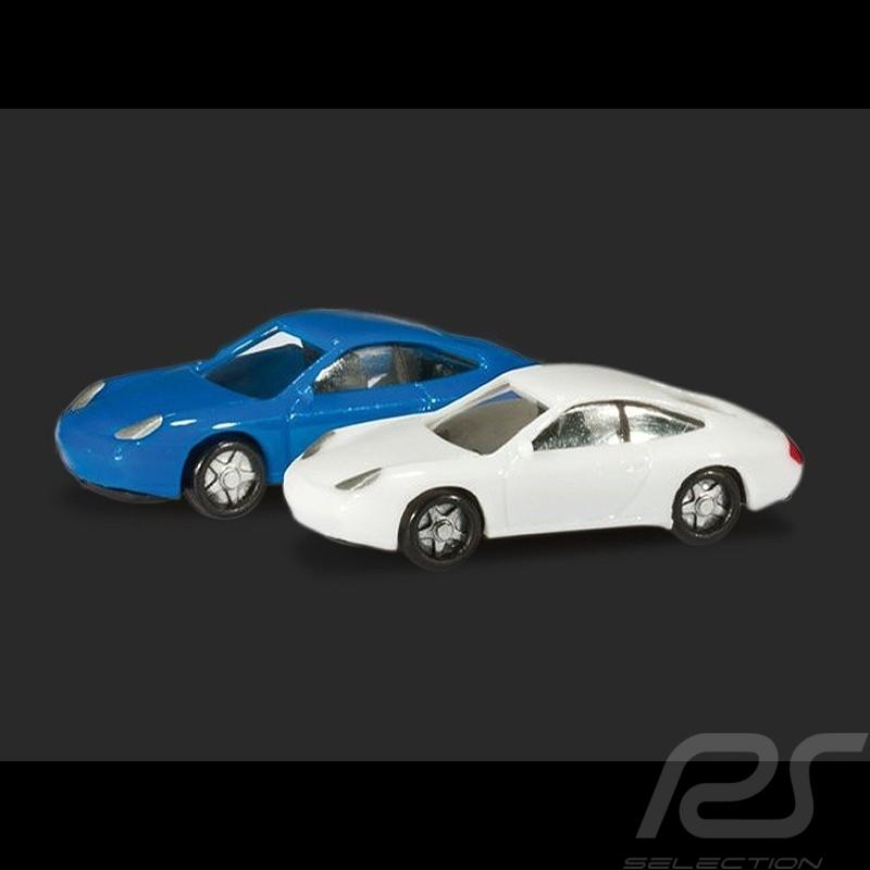 Duo Porsche 996 weiß und blau 1/160 N Herpa 065122-002