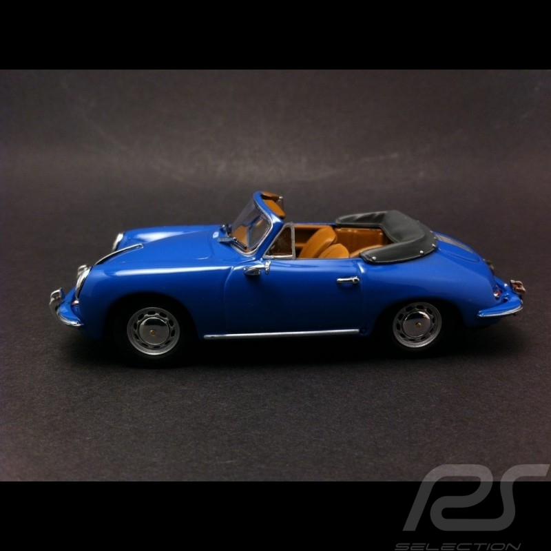 Porsche 356 C cabriolet 1963 bleu 1/43 Minichamps WAP0205500H