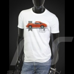 T-shirt Porsche 911 orange - white - Men