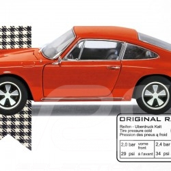 T-Shirt Porsche 911 orange homme men herren
