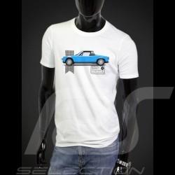 T-Shirt Porsche 914 blau - weiß - Herren