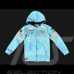 Veste hoodie Jo Siffert n° 12 bleu Gulf - enfant jacket kid Jacke kinder