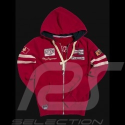 Hoodie jacket Clay Regazzoni red - women