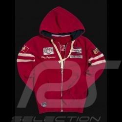 Veste hoodie Clay Regazzoni rouge - femme