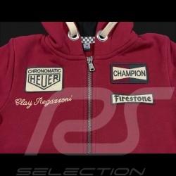 Hoodie jacket Clay Regazzoni red - kids