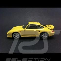 Porsche 993 Turbo S 1998 jaune 1/43 Minichamps 430069270