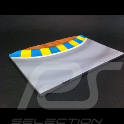 Track decor diorama curve with yellow and blue vibrator 1/43