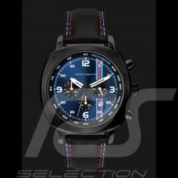 Montre Chrono Martini Racing boitier noir / fond bleu Watch uhr