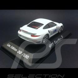 Porsche 991 Turbo S 2014 white Saint Tropez 1/43 Minichamps WAP0208900E