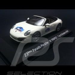 Porsche 991 Carrera S Cabriolet 2012 blanche Saint Tropez 1/43 Minichamps WAP0200130C