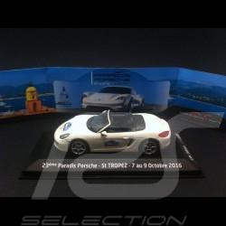Porsche Boxster 981 2013 blanc Saint Tropez 1/43 Minichamps WAP0202000D