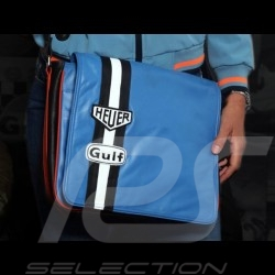Messenger bag Gulf blue leather