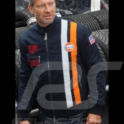 Veste Gulf Steve McQueen Le Mans coton bleu indigo - homme