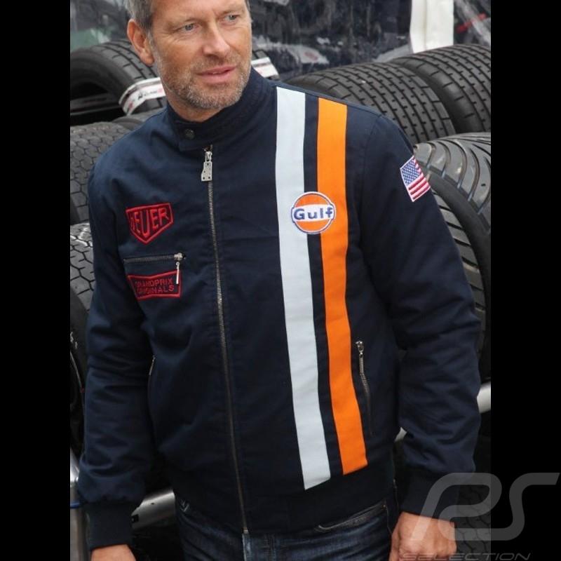 Steve Le Homme Veste Mcqueen Coton Mans Indigo Bleu Gulf fqR4wpgS7