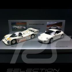 Set Porsche PDK 962 C 1986 / 997 Carrera 4S 2009 1/43 Minichamps WAP020SET21
