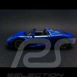 Porsche 918 Spyder Welly bleue jouet à friction pull back toy Spielzeug Reibung