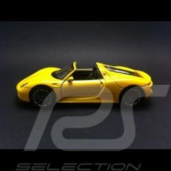 Porsche 918 Spyder jaune jouet à friction Welly MAP01026016