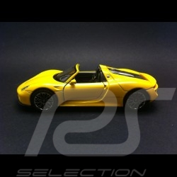 Porsche 918 Spyder yellow pull  back toy Welly MAP01026016