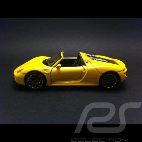 Porsche 918 Spyder Welly  jaune jouet à friction pull  back toy Spielzeug Reibung