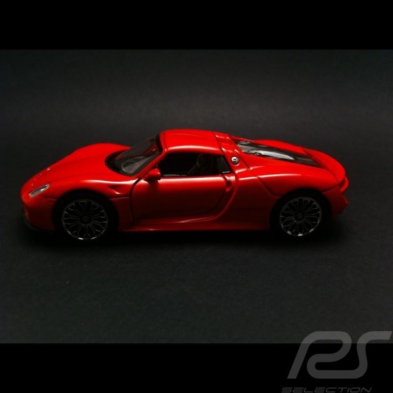 Porsche 918 Spyder Welly rouge jouet à friction  pull  back toy Spielzeug Reibung