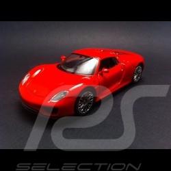Porsche 918 Spyder rot Spielzeug Reibung Welly
