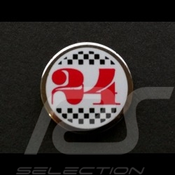 Pin 24 h du Mans Alain Figaret Crest button Button Wappen