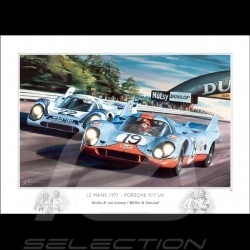 Porsche 917 le Mans 1971 original drawing by Benjamin Freudenthal