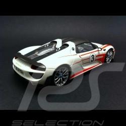 Porsche 918 Spyder Pack Weissach blanche / rouge 1/43 Minichamps 410062131