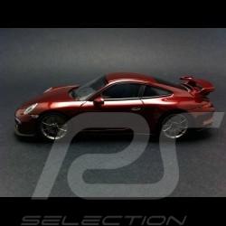 Porsche 991 GT3 2013 rouge metallisé 1/43 Minichamps CA04316087