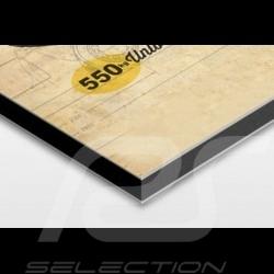 affiche porsche 550 spyder imprim e sur plaque aluminium dibond 40 x 60 cm helge jepsen. Black Bedroom Furniture Sets. Home Design Ideas