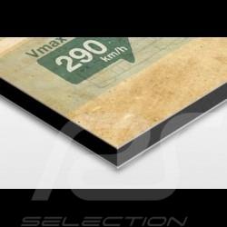 affiche porsche rs spyder imprim e sur plaque aluminium dibond 40 x 60 cm helge jepsen. Black Bedroom Furniture Sets. Home Design Ideas