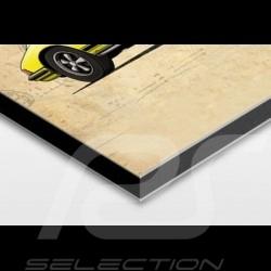 affiche porsche 911 s 2 2 imprim e sur plaque aluminium dibond 40 x 60 cm helge jepsen. Black Bedroom Furniture Sets. Home Design Ideas