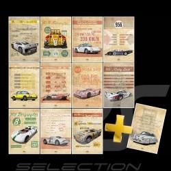 Collection intégrale affiches Porsche Helge Jepsen sur plaque Aluminium posters Plakat Drückplatte