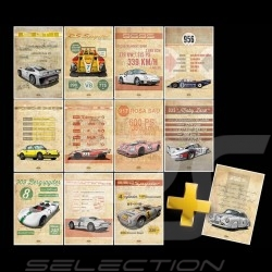 Integral-Sammlung Helge Jepsen Porsche Plakat Drückplatte auf Aluminium Dibond 40 x 60 cm