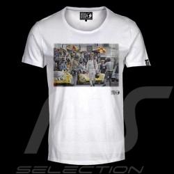 T-shirt Steve McQueen départ Le Mans blanc - homme