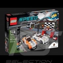 Duo Porsche 911 GT Ligne d'arrivée Lego 75912