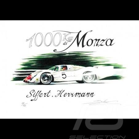 Porsche 908 n° 5 1000 km Monza dessin original de Sébastien Sauvadet
