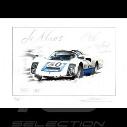 Porsche 906 n° 30 Le Mans 1966 Original Zeichnung von Sébastien Sauvadet