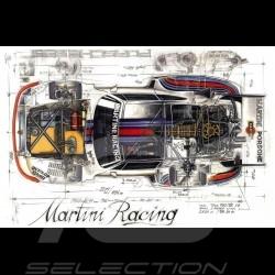 Porsche 935 Martini 1976 original drawing by Sébastien Sauvadet
