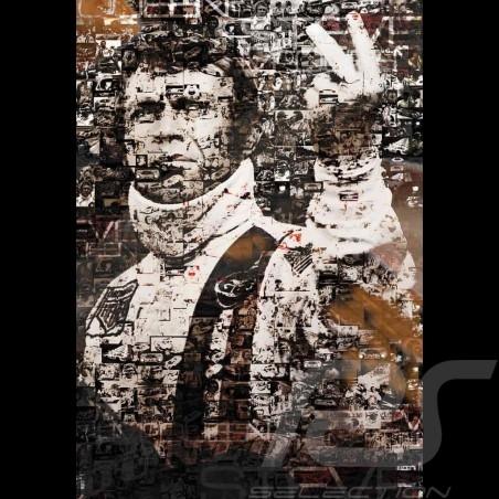 Poster Steve McQueen Le Mans 60 x 84 oeuvre originale de Caroline Llong