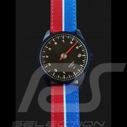 Montre Porsche 911 compte-tours mono-aiguille tricolore Watch Tachometer single-needle Uhr Tachometer Single-Nadel