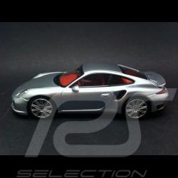 Porsche 991 Turbo 2013 gris argent 1/43 Minichamps CA04316059