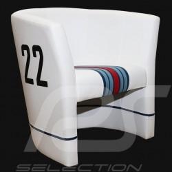 Fauteuil cabriolet Racing Inside n° 22 blanc Racing team