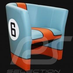 Tub chair Racing Inside n° 6 blue Racing team blue / orange
