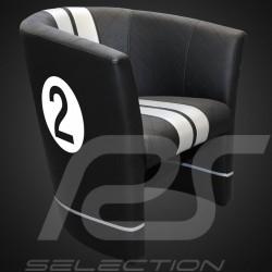 Fauteuil cabriolet Racing Inside n° 2 noir GT racing / gris